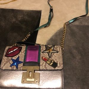Fun purse! Logos and snake print! Aldo crossbody